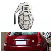 New Cool Car 3D Sticker Auto Emblem Badge Grenade Logo Stainless Steel Car Decal Exterior Decoration