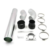 "Universal Car Air Intake Tubes Aluminum Pipe High Flow 3"" Diameter Cold Air Injection Intake System"