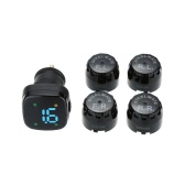 Steelmate Profesional TPMS TP-76 Tire Pressure Monitoring System LED Cigarette Lighter External Sensors Car Accessories