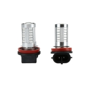 2 X 5630 33-SMD 850LM LED Car Fog Light Lamp Bulb H8 Socket Red Amber