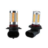 2 X 5630 33-SMD 850LM LED Car Fog Light Lamp Bulb H10 Socket Red Amber