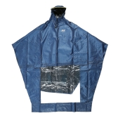 Super Water Resistant Thick Denim Motorcycle Raincoat Nice-looking Comfortable Rain Poncho Coat with Reflective Strip for Electric Motorbike Scooter