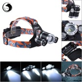 U`King ZQ-G808 Ultra Bright Outdoor LED Headlamp Flashlight Headlight Portable Zoomable Adjustable Focus 3 * XML-T6 4-Mode 3600LM High Power for Camping Hiking Hunting