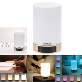 LIXADA Smart Intelligent Bluetooth Music Box Speaker Dimmable Color Changing Atmosphere Night Light LED Table Desk Lamp Support TF Card Slot