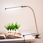 10W Eye Protection LED Clamp Clip Light Table Desk Reading Lamp 10-level Brightness Adjustable 3 Lighting Colors USB Powered Flexible Portable Dimmable 36 LEDs