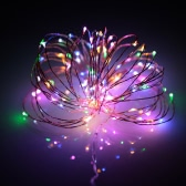 10M 100 LEDs USB Copper Wire Light Starry String Lamp Water-resistant for Decoration Festival Party Wedding Home Christmas Multi-color DC 5V 1.3W