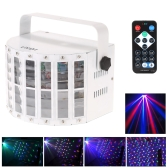 100-240V 24W RGBW LED 6 Channel Dmx 512 Voice-activated  Voice-control Automatic Control  LED Projector  DJ Home KTV Disco Stage Lighting Lights