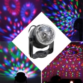 Auto Sound Activated 3W RGB LED Mini Crystal Magic Rotating Ball Effect LED Stage Lights for KTV Xmas Party Wedding Show Club Pub Disco DJ