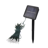 7.5M Solar Power White Light 50 LED Ice Fairy String Light Sense Lamp for Xmas Party Wedding Garden Decor