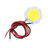 3W 9-10V DC LED Round COB Chip Light Lamp Bulb with Wire High Power High Bright Warm/Nature White