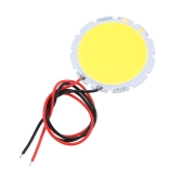 10W 30V-34V DC LED Round COB Chip Light Lamp Bulb with Wire High Power High Bright Warm/Nature White