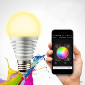 LIXADA Superlight Bluetooth LED RGB Smart Light E27 Bulb Smartphone Controlled Dimmable Color Changing Lamp for iPhone & iPad & Android-70W Equivalent