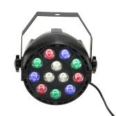 LIXADA DMX-512 RGBW LED Stage PAR Light Strobe Professional 8 Channel Party Disco Show 15W AC 100-240V
