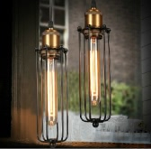 LIXADA Vintage  Retro Pendant Lamp Elegant Countryside Warehouse Light Chandeliers E27 Loft Ceiling Bedroom Hotel Hall with 1.2m Wire