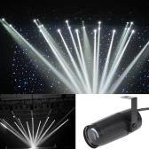 Total 5W LED White Beam Pinspot Light Spotlight Super Bright Lamp Mirror Balls DJ Disco Effect Stage Lighting for KTV Bar Club Party