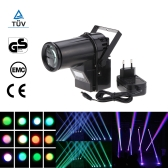 110-220V 10W 6 Channel Mini Portable LED Stage Light RGBW Spotlight Beam Effect Pinspot Lamp DMX512 Control Sound Activated for Bar Club KTV Party Blind Corner