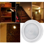 Mini PIR Human Body Motion and Light Sensor LED Night Light Wireless Infrared  Induction Lamp for Cabinet Bedside Hallway Energy Saving Plastic Hook