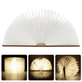 LIXADA LED Rechargeable Folding Book Light 4.5W 500LM Battery-Operated Changeable Shape Table Floor Ceiling Bedside Lamp Practical and Beautiful Lighting Fixture Indoor Use Warm White