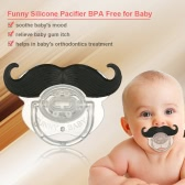 Funny Mustache Pacifier Silicone Pacifier Mustache BPA Free for Baby Infant Newborn