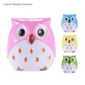 4pcs Cute Cartoon Pencil Sharpener Double Holes Lovely Animal Owl Pattern Stationery Gift for Kids Children Students (4 Colors Random Delivery)