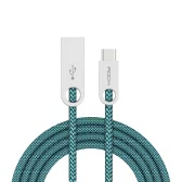 ROCK Cobblestone 1M Nylon Braid Alloy USB 2.0 to TypeC Double-side Charging Data Cable High-speed High-efficiency for for HTC One A9 Letv Max Xiaomi Mi5 LG G5 Sony Xperia X Performance