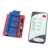 Four-way Four-channel 12V IR Remote Control Relay Module with LED Indication