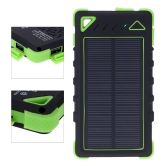 8000mAh Solar Charger Dual USB/Micro Ports Solar Power Bank External Battery for Smartphone iPad Camera iPhone Samsung