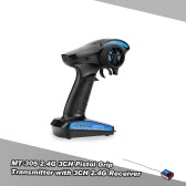 MT-305 2.4G 3CH Remote Control Pistol Grip Transmitter with 3CH 2.4G Receiver for RC Boat Car