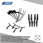 Original JJRC H31 Spare Part 2 Pairs Propeller 4 Pcs Propeller Guard and 1 Pair Landing Gear for JJRC H31 and GoolRC T6 RC Quadcopter