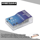 HOBBYEAGLE New A3-L 3-axis Airplane Gyro Flight Controller Stabilizer System Gyro with 3 Flight Modes for RC Airplane Fixed Flying Wing Aircraft