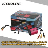 Original GoolRC S2430 5800KV Sensorless Brushless Motor and 25A Brushless ESC Combo Set for 1/16 1/18 RC Car Truck
