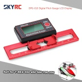 SKYRC DPG-010 Digital Pitch Gauge LCD Display for T-REX 550 450 500 700 250 RC Helicopter