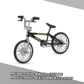 RC Model Decorative Bike Accessory Bicycle for 1/10 RC Rock Crawler SCX10 D90 D110 CC01