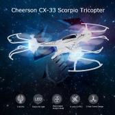 Original Cheerson CX-33 2.4G 4CH 6-Axis Gyro RC Quadcopter RTF 3-Axis Tricopter Drone with Altitude Hold Function