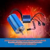 2845 3930KV 4P Sensorless Brushless Motor & 35A Brushless ESC Electronic Speed Controller for 1/14 1/16 1/18 RC Car