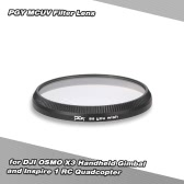 PGY MCUV Filter Lens For DJI OSMO X3 Handheld Gimbal and Inspire 1 RC Quadcopter
