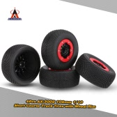 4Pcs AUSTAR AX-3008 High Performance 108mm 1/10 Scale Tires with Wheel Rim for 1/10 Short Racing Truck RC Car