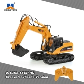 Original HUI NA TOYS 2.4GHz 15CH Engineering Electric Excavator Construction Truck RC Car Plastic Version
