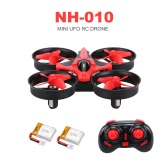 Original NIHUI NH-010 2.4G 4CH 6-Axis Gyro Mini RC Quadcopter RTF UFO Anti-crush Drone with Two Batteries