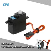 CYS-S3001 17g Light Weight Plastic Gear Micro Analog Standard Servo For RC Fixed-wing Aircraft