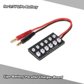 Lipo Battery Parallel Charger Board with Banana Connector for RC Quadcopter Helicopter 3.7V LiPo Battery