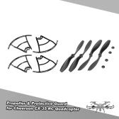 2 Pair of CW/CCW Propeller & 4pcs Protective Guard for Cheerson CX-35 RC Quadcopter