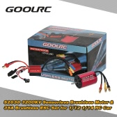 Original GoolRC S2838 3200KV Sensorless Brushless Motor and 35A Brushless ESC Combo Set for 1/12 1/14 RC Car Truck