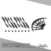 4 Pair of CW/CCW Propeller & 4pcs Protective Guard for Cheerson CX-35 RC Quadcopter