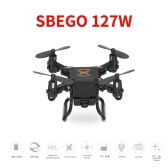 SBEGO 127W 2.4G 4CH 6-Axis Gyro 0.3MP Wifi FPV Foldable RC Quadcopter RTF Drone with 3D-Flip Headless Mode and One-Key Return