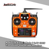 Original Mode 1 RadioLink AT10Ⅱ 2.4G 10CH Remote Control System Transmitter w/ R10DS Receiver and PRM-01 Voltage Return Module