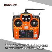 Original Mode 2 RadioLink AT10Ⅱ 2.4G 10CH Remote Control System Transmitter w/ R10DS Receiver and PRM-01 Voltage Return Module