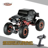 Original HSP 94680T2 1/18 2.4Ghz 3CH 4WD Electric Powered Brushed Motor RTR Rock Crawler RC Car with Two Servo