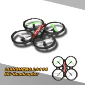 LIANSHENG LS114 4CH 2.4GHz RTF UFO Aircraft Drone Radio Control Toy RC Quadcopter w/6-Axis Gyro