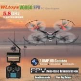 Wltoys V686G 6-Axis Gyro 2.4G 4CH FPV 5.8G Real-time Images Return UFO RC Quadcopter with 2.0MP Camera One-press Return and CF Mode